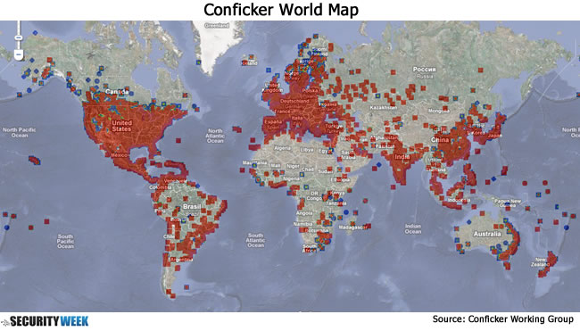 Map of Conficker Infection
