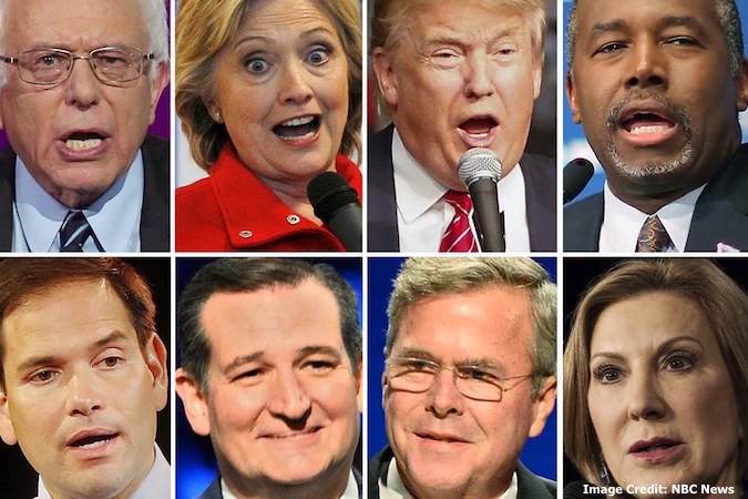 Faces From Presidential Candidates