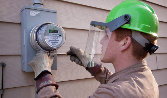 Smart Meter Installation - Credits: Portland General Electric