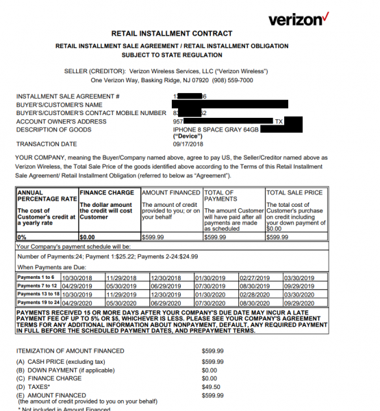 Verizon exposed customer contracts