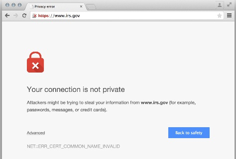 Chrome SSL warning